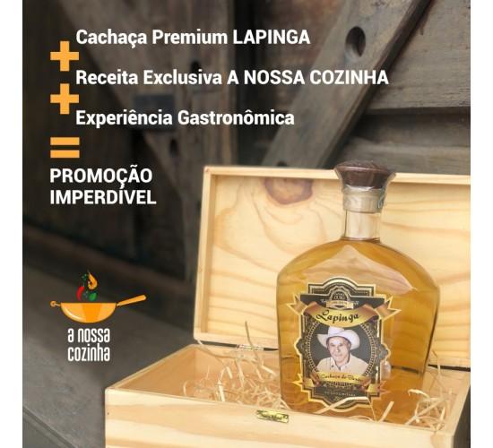 Combo Cachaça Lapinga Ouro Premium 750ml + Receita Exclusiva + Experiência Gastronômica
